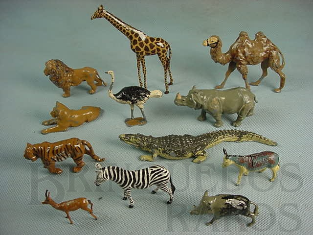 Brinquedo antigo Animais Selvagens diversos Zoo Série Década de 1930