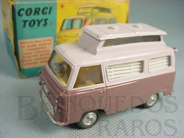 Brinquedo antigo Ford Thames Airborne Caravan vinho Década de 1960