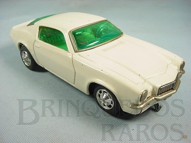 Brinquedo antigo Chevrolet Camaro Z28 branco Sistema Não Cai da Mesa 26,00 cm de comprimento Década de 1970