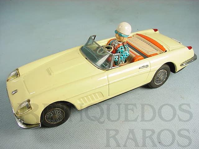 Brinquedo antigo Ferrari conversível Motorista com movimento Década de 1960