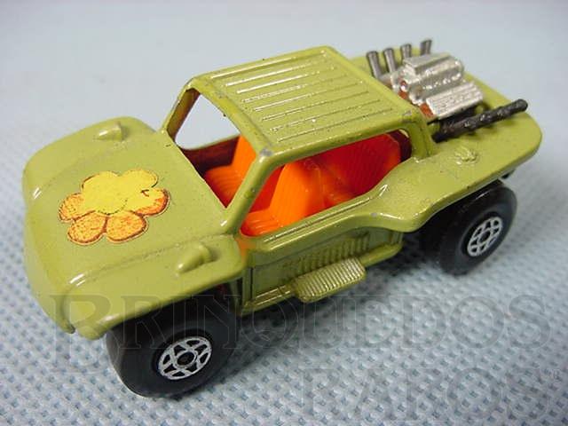 Brinquedo antigo Baja Buggy Superfast Brazilian Matchbox verde Inbrima 1970