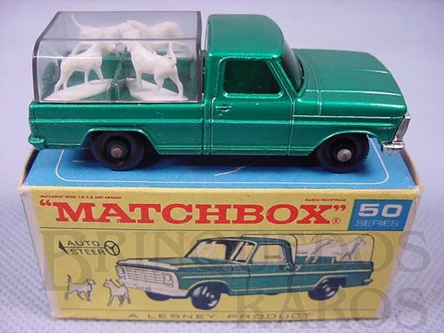 Brinquedo antigo Caminhonete Kennel Truck black plastic Regular Wheels