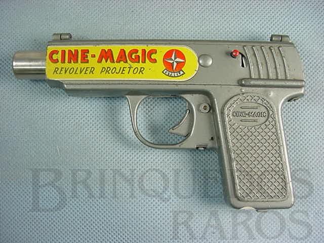 Brinquedo antigo Projetor Cine Magic completo com um filme Década de 1970