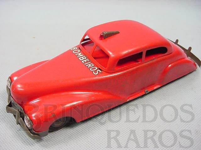 Brinquedo antigo Carro Sedan Bombeiros com 21,00 cm de comprimento Década de 1940