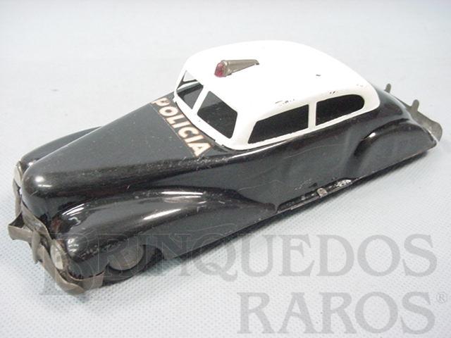Brinquedo antigo Carro Sedan Polícia com 21,00 cm de comprimento Década de 1940