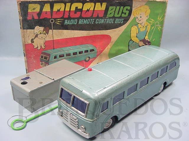 Brinquedo antigo Onibus Radicon Bus Primeiro Brinquedo com controle remoto sem fio Ano 1965