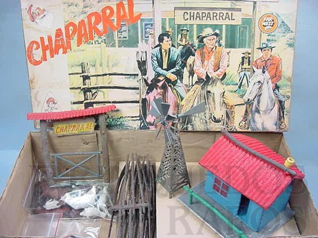 Brinquedo antigo Fazenda Chaparral perfeito estado completa Caixa assinada Nelson Reis Datado 10-9-73
