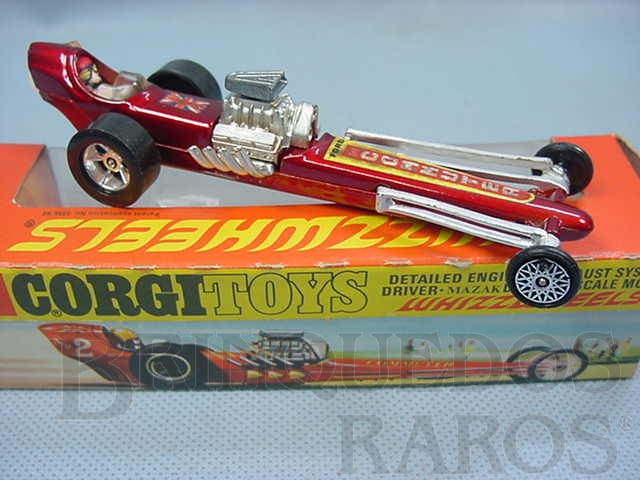 Brinquedo antigo Santa Pod Raceway Commuter Dragster Década de 1970
