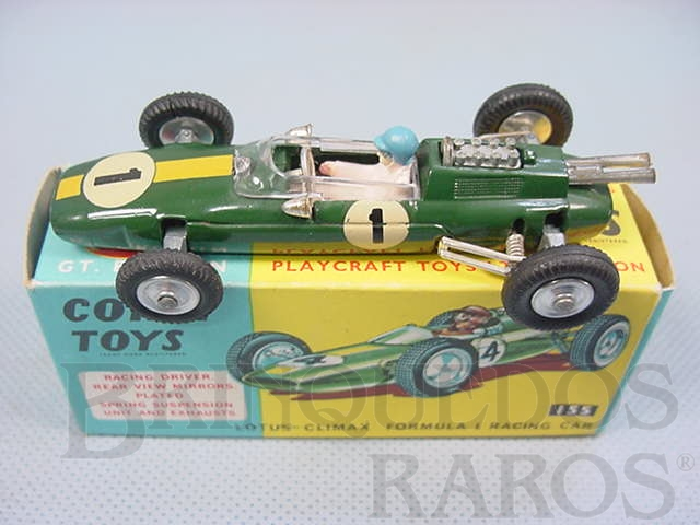 Brinquedo antigo Lotus Climax Fórmula 1 Década de 1960