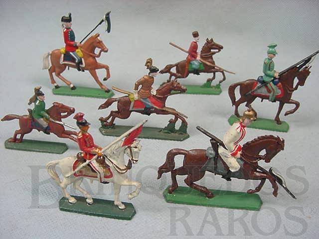 Brinquedo antigo Lanceiros a cavalo Semi - Flat forma Schneider Preço por unidade