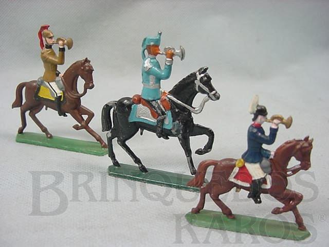 Brinquedo antigo Corneteiros a cavalo Semi-Flat, forma Schneider Preço por unidade