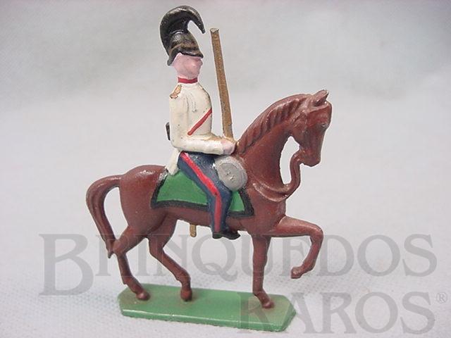 Brinquedo antigo Soldado a cavalo com espada 9,00 cm de altura Semi - Flat forma Schneider