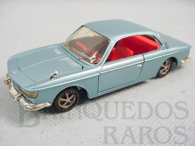 Brinquedo antigo BMW 2000 CS azul metálico Década de 1970