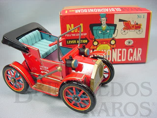 Brinquedo antigo Old Fashioned Car Nº 1 Movimento por alavanca Ano 1967