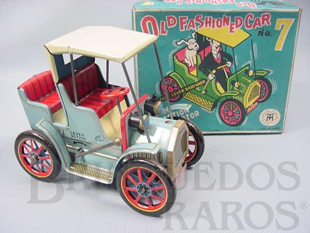 Brinquedo antigo Old Fashioned Car Nº 7 Movimento por alavanca Ano 1967
