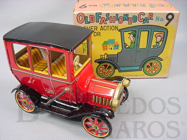 Brinquedo antigo Old Fashioned Car Nº 9 Movimento por alavanca Ano 1967