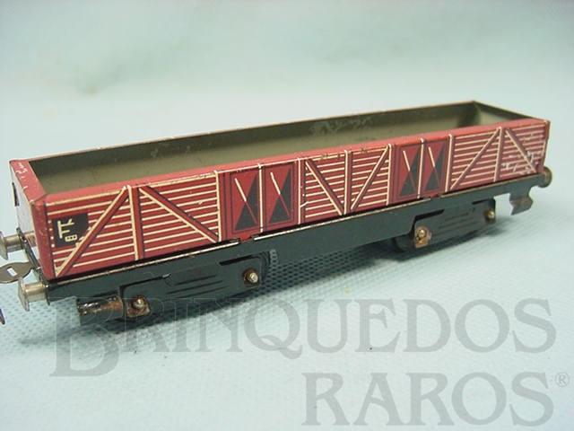 Brinquedo antigo Vagão Gôndola Ferrorama vermelho Década de 1960