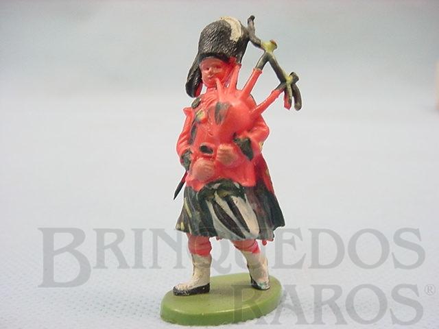 Brinquedo antigo Soldado Escocês marchando com gaita de fole