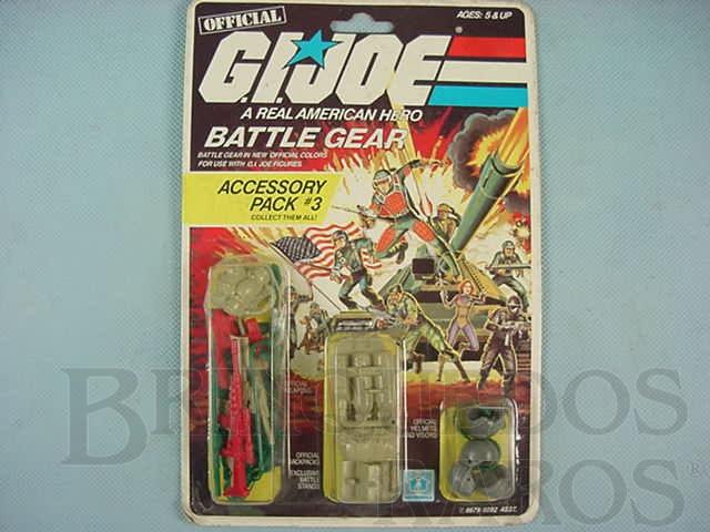 Brinquedo antigo Accessory Pack number 3 Battle Gear completo lacrado Ano 1984