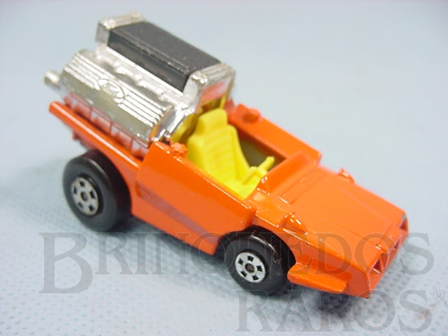 Brinquedo antigo Tyre Fryer Superfast laranja Brazilian Matchbox Inbrima 1970