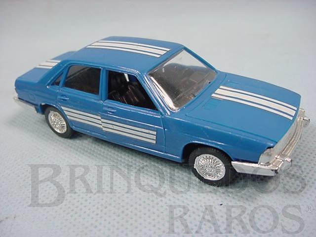 Brinquedo antigo Audi 100 azul injetado em plástico Brasilianische Schuco Rei