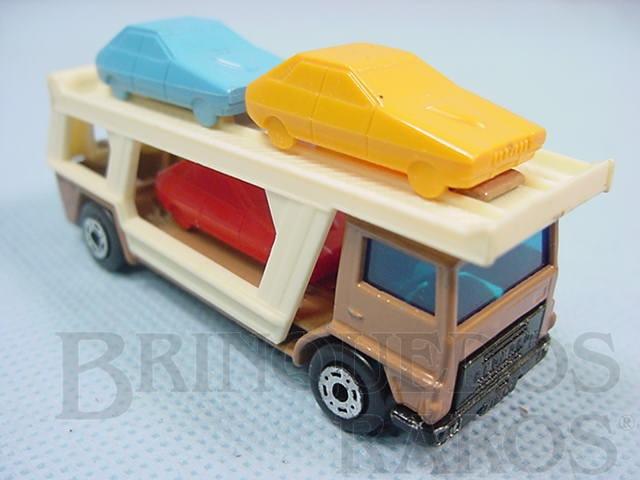 Brinquedo antigo Caminhão Cegonha Bedford Car Transporter Superfast marrom Brazilian Matchbox Inbrima 1970