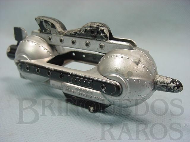 Brinquedo antigo Nave Espacial Flash Blast Attack Ship prata com 11,00 cm de comprimento Buck Rogers 25th Century Rocket Ships Ano 1937