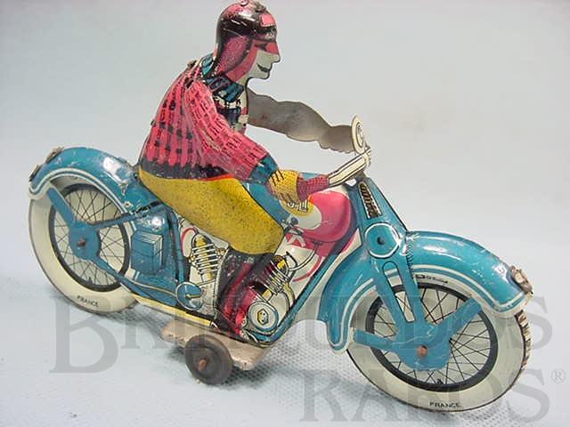 Brinquedo antigo Motocicleta com 17,00 cm de comprimento Década de 1930