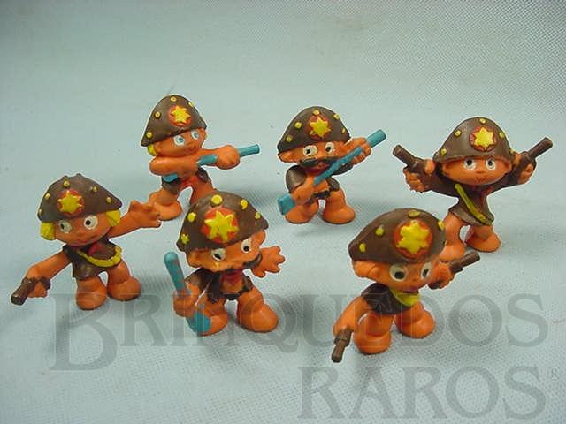 Brinquedo antigo Conjunto com seis Cangaceiros Série Brasilianos Década de 1970