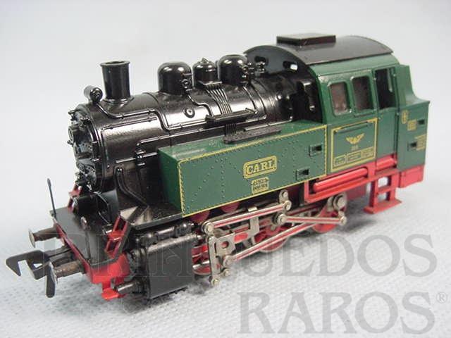 Brinquedo antigo Locomotiva à vapor tipo 0-6-0 Ferrovia particular Sobe rampas com cremalheira Década de 1970