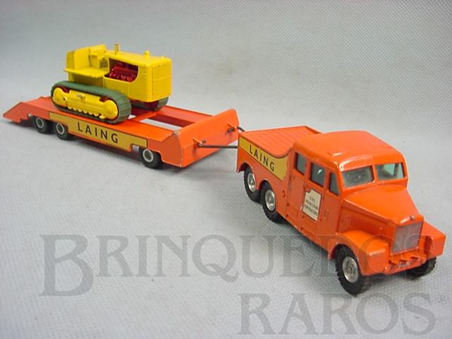 Brinquedo antigo Scammell Prime Mover and Caterpillar Tractor King Size