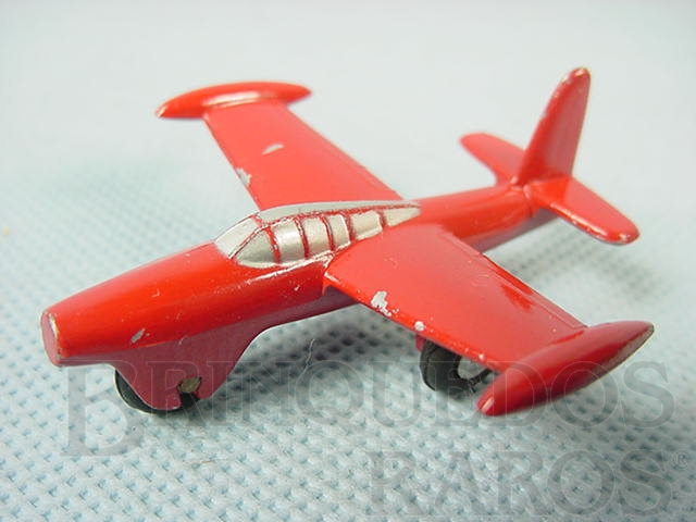 Brinquedo antigo Avião Thunderjet Série Piccolo numerado 780 Década de 1960