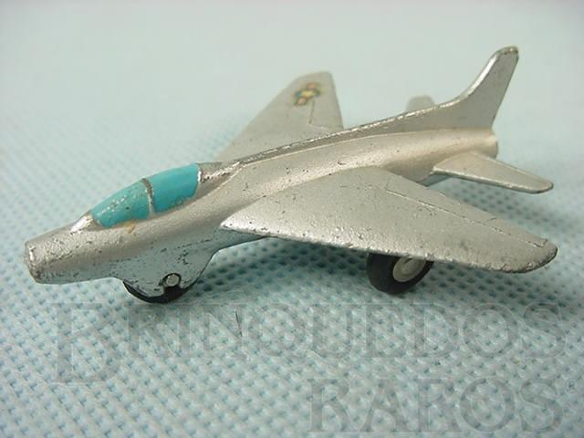 Brinquedo antigo Avião Super Sabre Série Piccolo numerado 782 Década de 1960