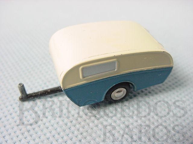 Brinquedo antigo Trailer Caravan Série Piccolo com 5,00 cm de comprimento Numerado 722 Ano 1957