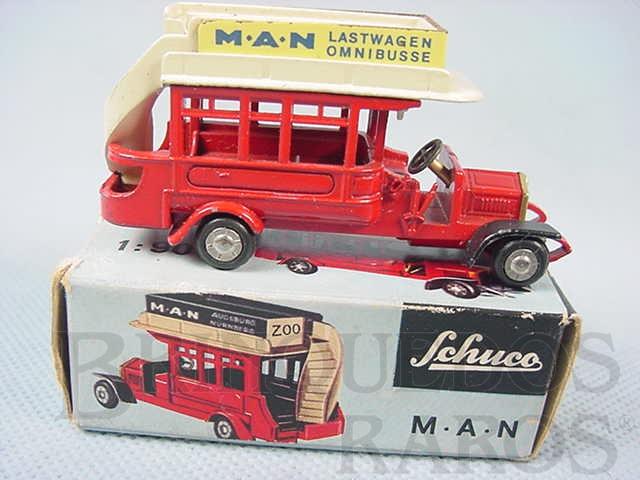 Brinquedo antigo Onibus MAN de dois andares Série Piccolo Década de 1950