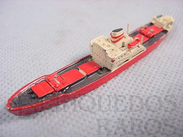 Brinquedo antigo Navio mercante Helga Dan com 8,00 cm de comprimento Década de 1970