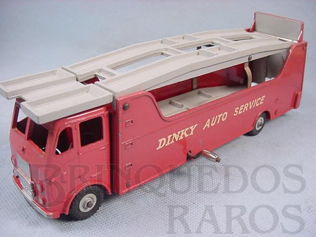 Brinquedo antigo Caminhão Cegonha Car Carrier Dinky Auto Service Década de 1960