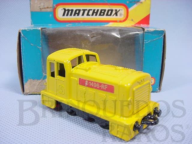 Brinquedo antigo Diesel Shunter Superfast amarelo Brazilian Matchbox Inbrima 1970