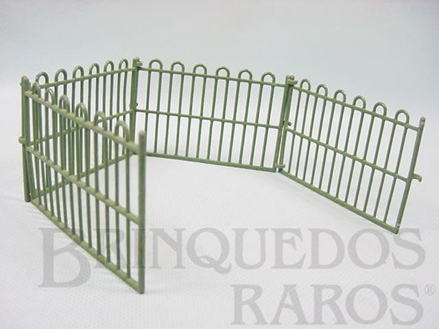 Brinquedo antigo Conjunto de quatro grades retas Zoo Série Década de 1930
