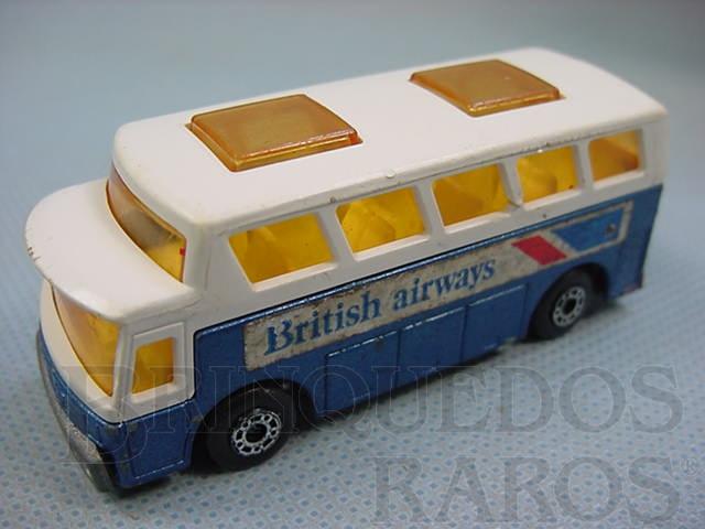 Brinquedo antigo Airport Coach Superfast British Airways Brazilian Matchbox Inbrima 1970