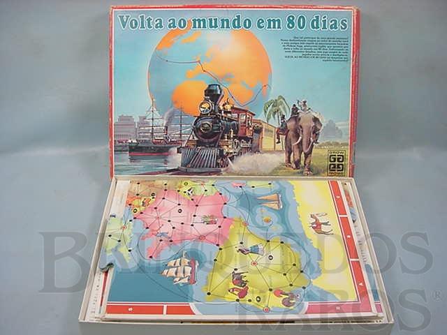 Brinquedo antigo Jogo Volta ao Mundo em 80 Dias Completo Década de 1980
