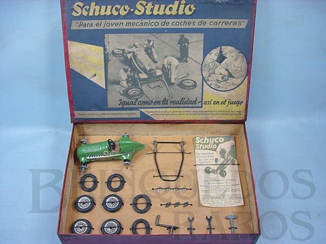 Brinquedo antigo Conjunto para montar um Carro de Corridas Schuco Studio 1050 Completo versão para o Mercado Espanhol Ano 1946 a 1947