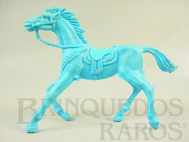 Brinquedo antigo Cavalo de Cowboy de plástico azul Década de 1980