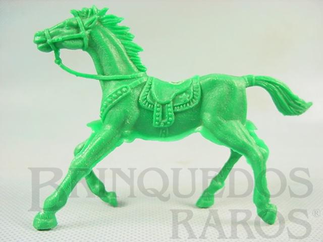 Brinquedo antigo Cavalo de Cowboy de plástico verde Década de 1980