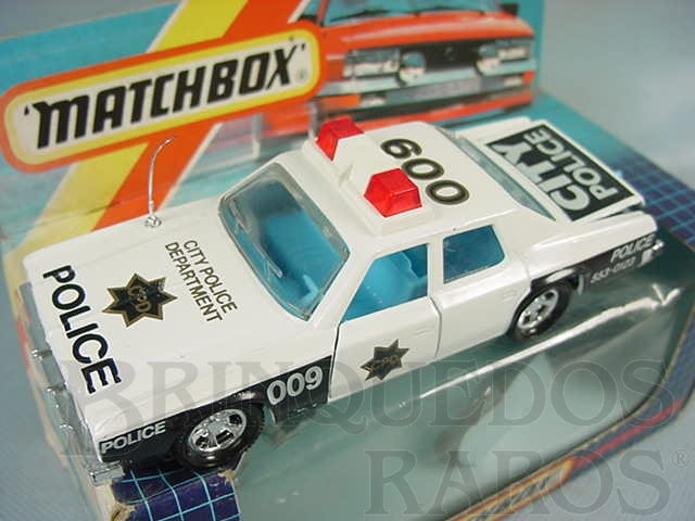 Brinquedo antigo Plymouth Gran Fury Police Car Super Kings