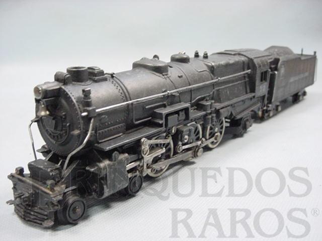 Brinquedo antigo Locomotiva a vapor American Flyer número 312 Pennsyllvania RR Década de 1950