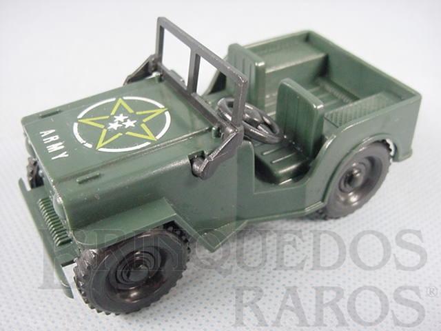 Brinquedo antigo Jeep Willys com 10 cm de comprimento Década de 1980