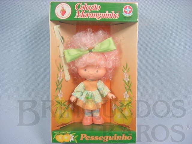 Brinquedo antigo Pesseguinho Coleção Moranguinho Completa Caixa Lacrada Década de 1980
