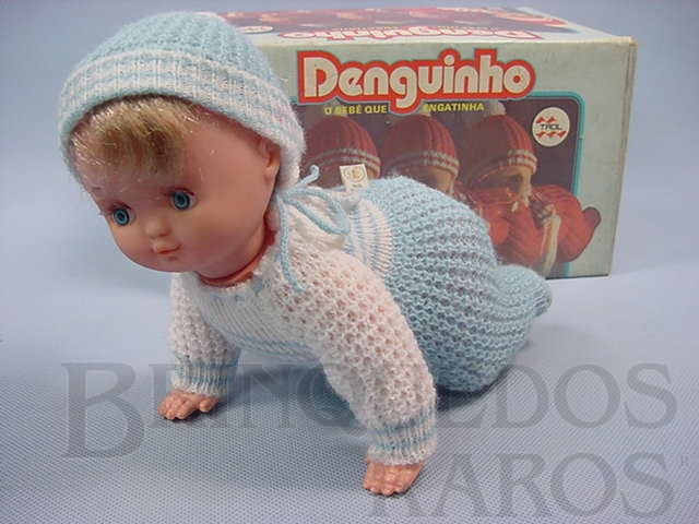 Brinquedo antigo Denguinho o Bebê que Engatinha com 25,00 cm de comprimento Década de 1970
