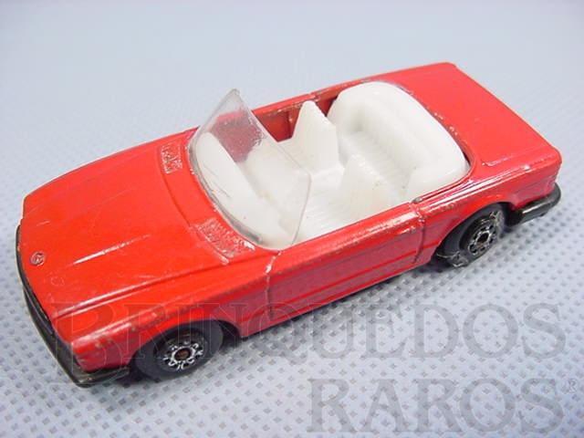 Brinquedo antigo Mercedes Benz 350 SL Tourer conversível Superfast vermelho Brazilian Matchbox Inbrima 1980